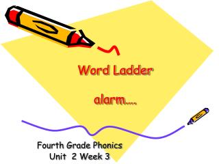 Word Ladder  alarm .