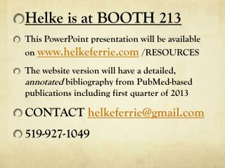 Helke is at BOOTH 213