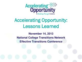 Accelerating Opportunity: Lessons Learned