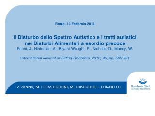 V. ZANNA, M. C. CASTIGLIONI, M. CRISCUOLO, I. CHIANELLO