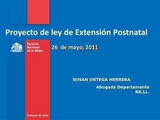 Proyecto de ley de Extensi n Postnatal