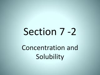 Section 7 -2