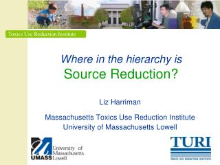 Where in the hierarchy is Source Reduction?