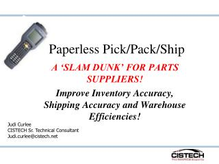 Paperless PPS for Spare Parts Suppliers - 8-4-09