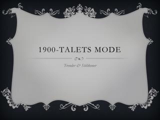 1900-talets mode