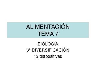 ALIMENTACI N TEMA 7