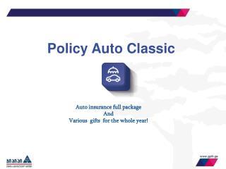 Policy Auto Classic