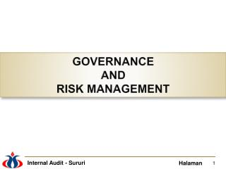 GOVERNANCE  AND  RISK MANAGEMENT