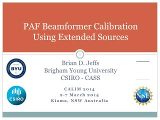 PAF  Beamformer  Calibration Using  Extended Sources
