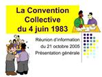 La Convention Collective  du 4 juin 1983