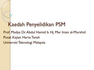 Kaedah Penyelidikan PSM