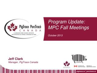 Program Update: MPC Fall Meetings October 2013