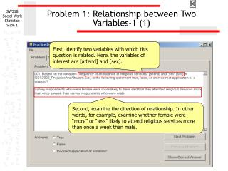 Problem 1: Relationship between Two Variables-1 1