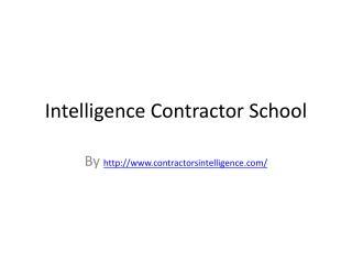 Contractors school