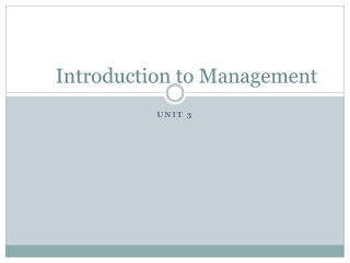 Management Styles Overview