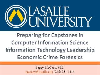 Preparing for  Capstones in Computer Information Science Information Technology Leadership