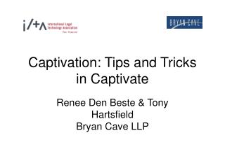 Captivation: Tips and Tricks  in Captivate