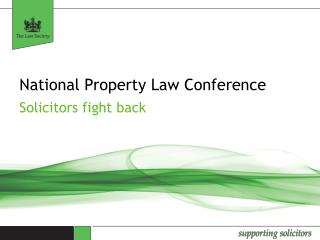 National Property Law Conference