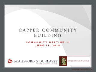 CAPPER COMMUNITY BUILDING