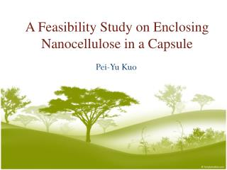 A Feasibility Study on Enclosing Nanocellulose in a Capsule