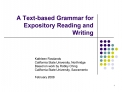A Text-based Grammar for Expository Reading and Writing