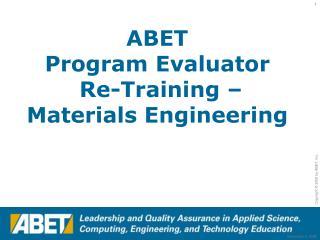 ABET Powerpoint presentation