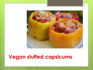 Vegan stuffed capsicums