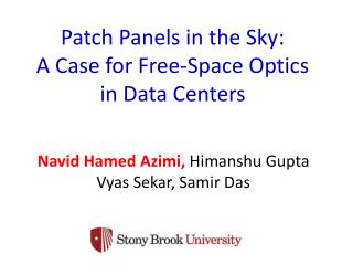 Patch  Panels in the Sky: A Case for Free-Space Optics  in Data Centers