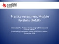 Practice Assessment Module Portfolio PAMP