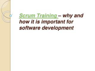 Agile training| Scrum training