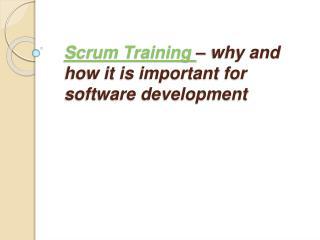 Agile training| Scrum training