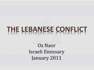 The Lebanese  conflict