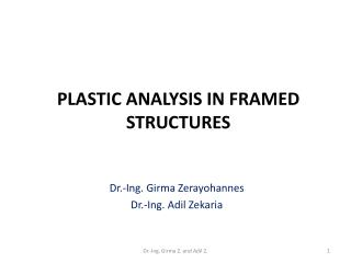 Plastic Analysis in framed structures