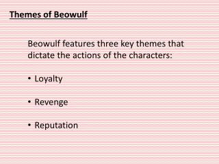 Themes  of  Beowulf