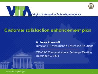 Customer satisfaction enhancement plan