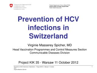 Prevention of HCV infections in Switzerland