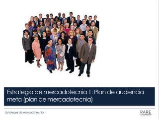 Estrategia de mercadotecnia 1: Plan de audiencia meta (plan de mercadotecnia)