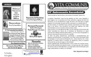 Boletín Parroquial  Agosto 2012  Año 2  No.17