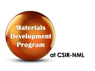 Materials Development Program