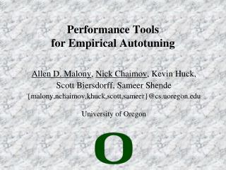 Performance Tools for Empirical  Autotuning