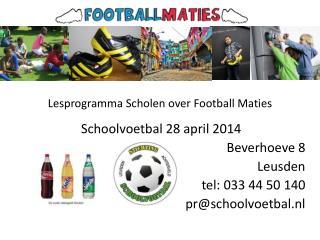 Lesprogramma Scholen over Football Maties
