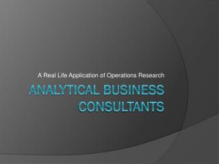 Analytical Business Consultants