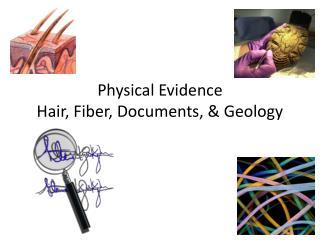 Physical Evidence Hair, Fiber, Documents, & Geology