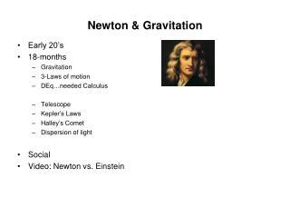 Newton & Gravitation