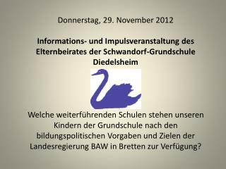 Donnerstag, 29. November 2012