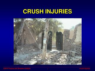 Crush Injuries Powerpoint