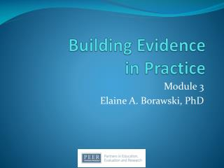 Building Evidence  in Practice