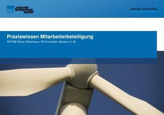 Praxiswissen Mitarbeiterbeteiligung WP/ StB  Rainer Weichhaus, RA Konstantin Maretis, LL.M.