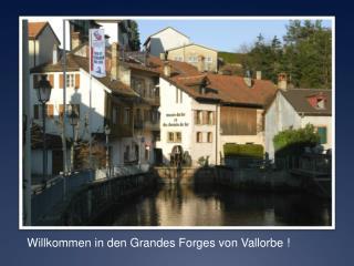 Willkommen  in den Grandes Forges  von  Vallorbe !