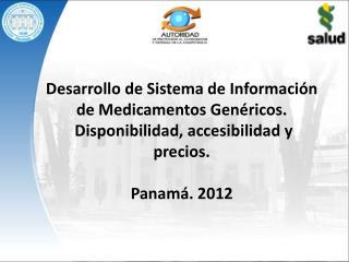 Desarrollo de Sistema  de  Información de Medicamentos Genéricos.